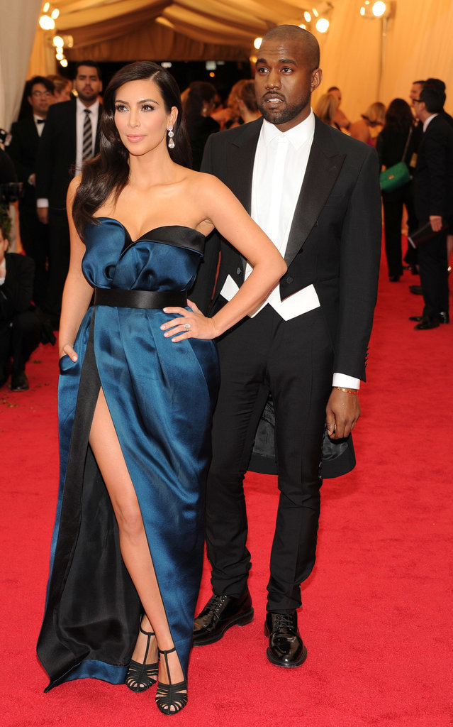 Kim Kardashian in Lanvin with Kanye West--I have to say this is the best I think they've ever looked !