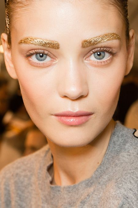 golden brows at Christian Dior---why not?